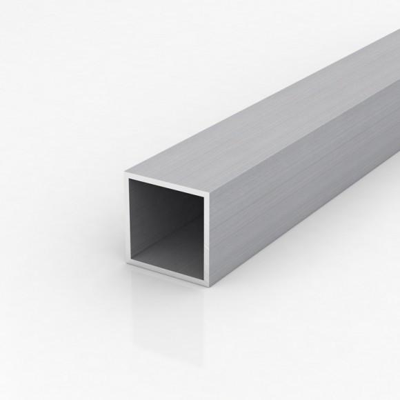 Алюмінієва труба квадратна 50х50мм товщиною стінки 3мм без покриття