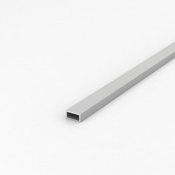Алюмінієва труба прямокутна 20х10мм товщиною стінки 1мм анодована
