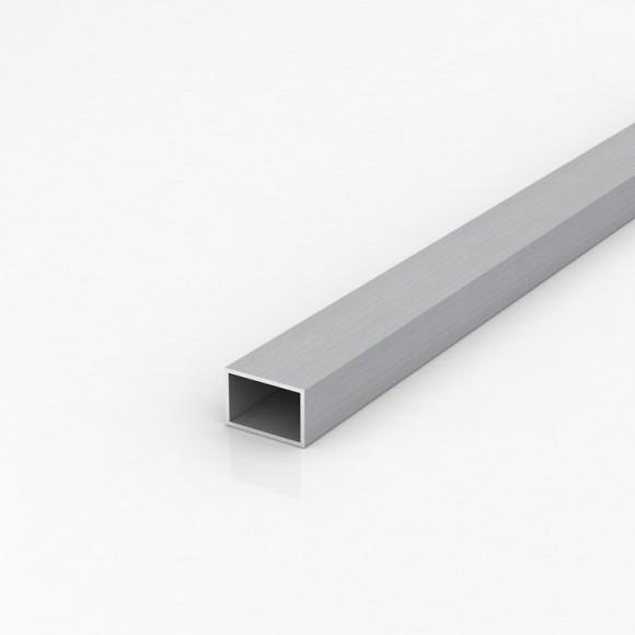 Алюмінієва труба прямокутна 30х20мм товщиною стінки 2мм анодована