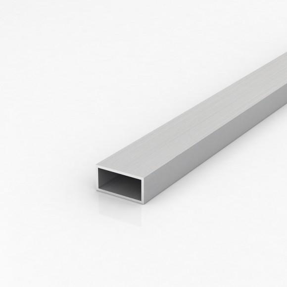 Алюмінієва труба прямокутна 40х20мм товщиною стінки 2мм анодована