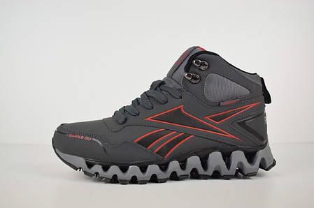 Мужские кроссовки Reеbok zigwild высокие серые  топ реплика, фото 2