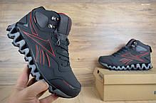 Мужские кроссовки Reеbok zigwild высокие серые  топ реплика, фото 3