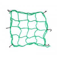 Мотосетка багажная (паук) Pro-Biker, 30x30 см, Цвет Зеленый
