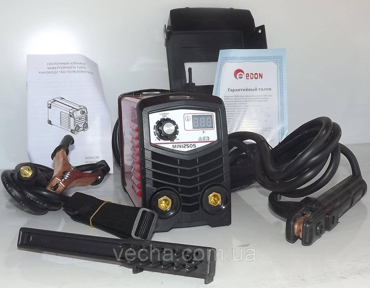 Сварочный инвертор Edon MINI-250S (7.2 кВт, мален. размер и вес)