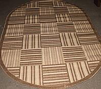 Безворсовый кухонный ковер Рогожка Sisal 4129