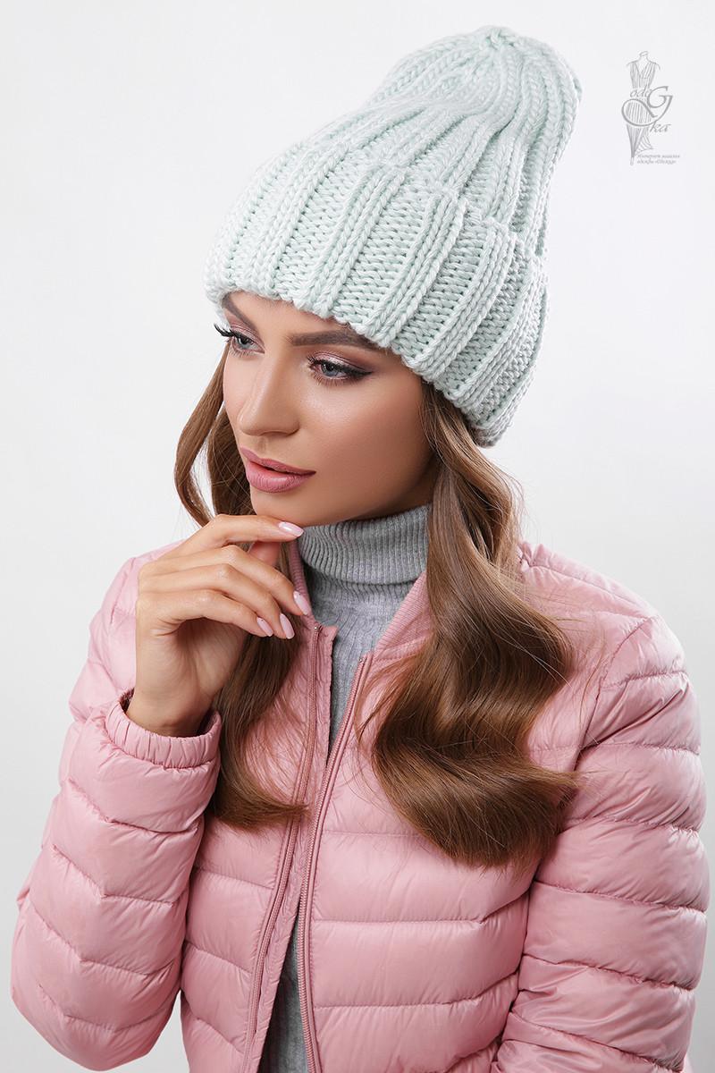 Вязаные женские шапки Рики-3 нить шерсть-акрил
