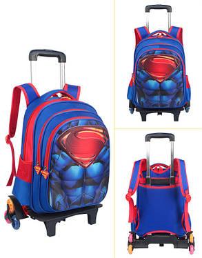 Супер рюкзак тележка в виде Супермен Паук бетмен, фото 2