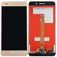 Дисплей (экран) для Huawei Y6 II (CAM-L21), Honor 5A (CAM-AL00) + тачскрин, цвет золотистый
