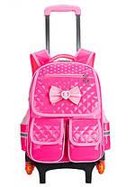 Детский рюкзак-тележка на колесах для девочки, фото 2