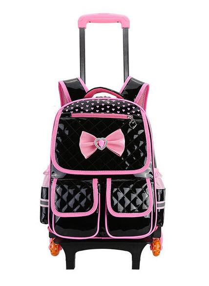 Детский рюкзак-тележка на колесах для девочки