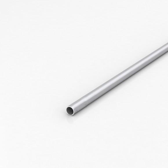 Алюмінієва труба кругла 12мм товщиною стінки 1мм анодована