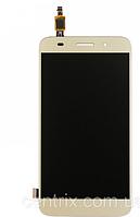 Дисплей (экран) для Huawei Y3 2017 Dual Sim, Y5 Lite (2017) + тачскрин, цвет золотистый