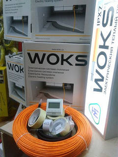 1,5 м2 Тепла підлога Woks 18 електрична 220Вт нагрівальний кабель 12м