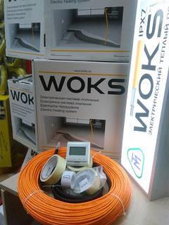 2.5 - 2 м2 Тепла підлога Woks 18 електрична 370Вт нагрівальний кабель 20м
