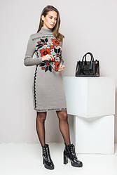 Женское вязаное платье - Дарина