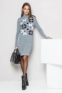 Платье вязка с орнаментом - Дарина