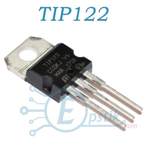 TIP122, транзистор биполярный, NPN 100В, 5А, TO220