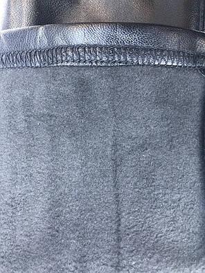 Кожаные лосины на  флисе ТМ CASTOM Арт.18106, фото 2