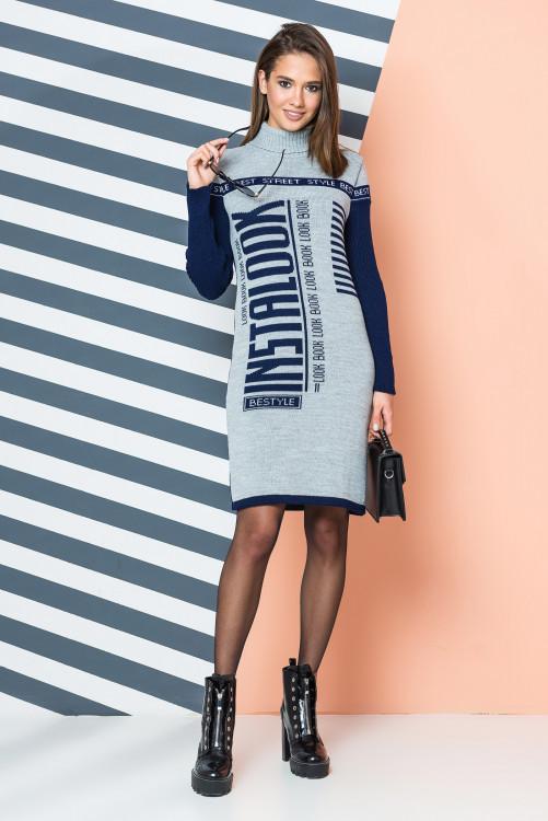 Платье трикотажная вязка - LOOK