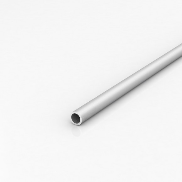 Алюмінієва труба кругла 16мм товщиною стінки 1мм анодована