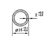 Алюмінієва труба кругла 16мм товщиною стінки 2мм без покриття, фото 2