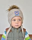 Шапка зимняя для мальчика с помпоном, фото 4