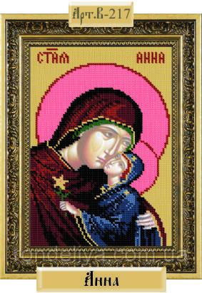 Схема для вышивки бисером «Святая Анна»