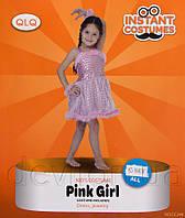 Костюм детский карнавальный платье для девочки, рост 110-120 см, розовый (CC249B)