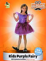 Костюм детский карнавальный ФЕЯ-ФИАЛКА, рост 110-120 см, фиолетовый (CC548B)