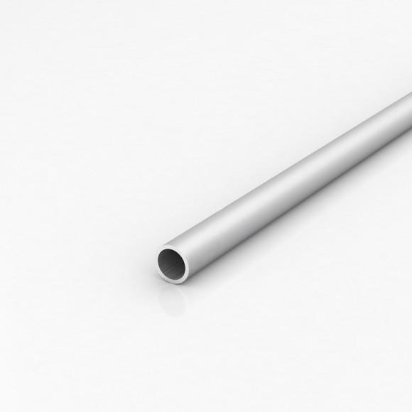 Алюмінієва труба кругла 20мм товщиною стінки 2мм анодована