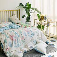 Хлопковый комплект постельного белья Белочка (двуспальный-евро)