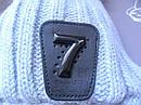 Детский зимний серый комплект: шапка и снуд для мальчика на 1-3 года, фото 3