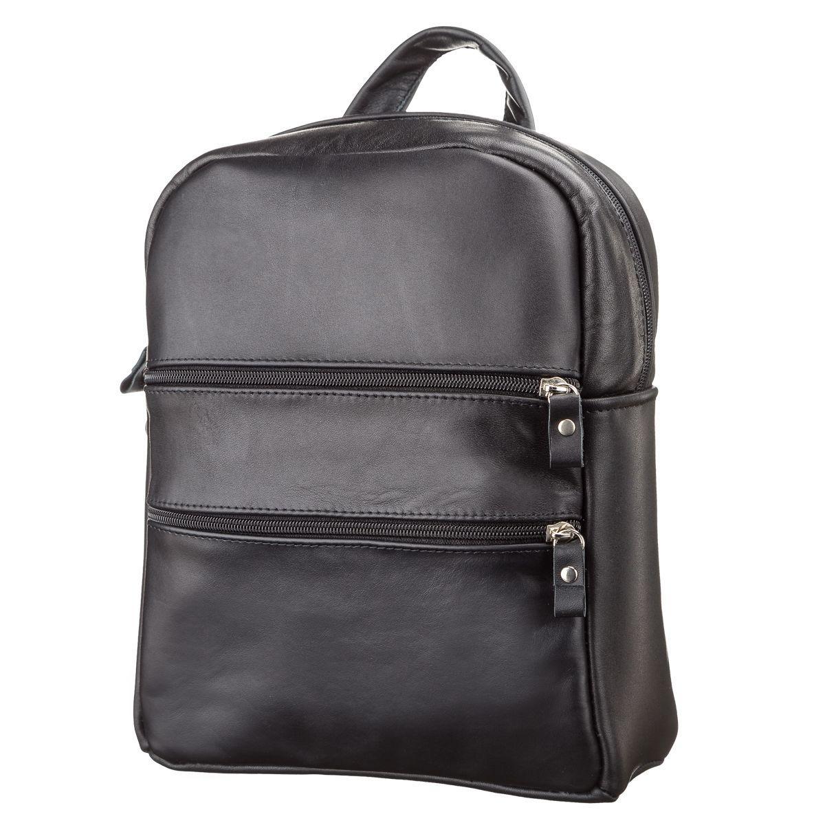 Рюкзак женский черный SHVIGEL кожа 15304