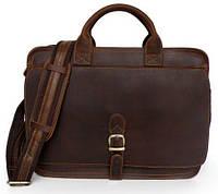 41c9d4084d5f Деловая мужская сумка Vintage из натуральной кожи в коричневом винтажном  цвете 14221