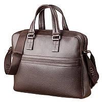 1ab3659ec895 Деловая сумка мужская Bond из натуральной кожи в коричневом цвете 17217