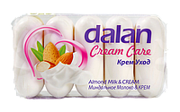 Мыло туалетное Dalan Cream Care 5*70г. Миндальное молоко и крем (экопак)
