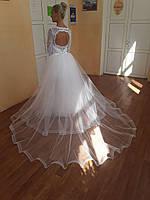 Кружевное Свадебное платье со съемной юбкой. Платье трансформер., фото 1