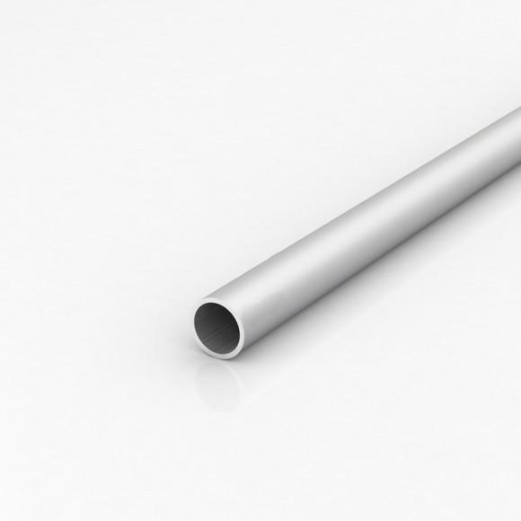 Алюмінієва труба кругла 25мм товщиною стінки 2мм без покриття