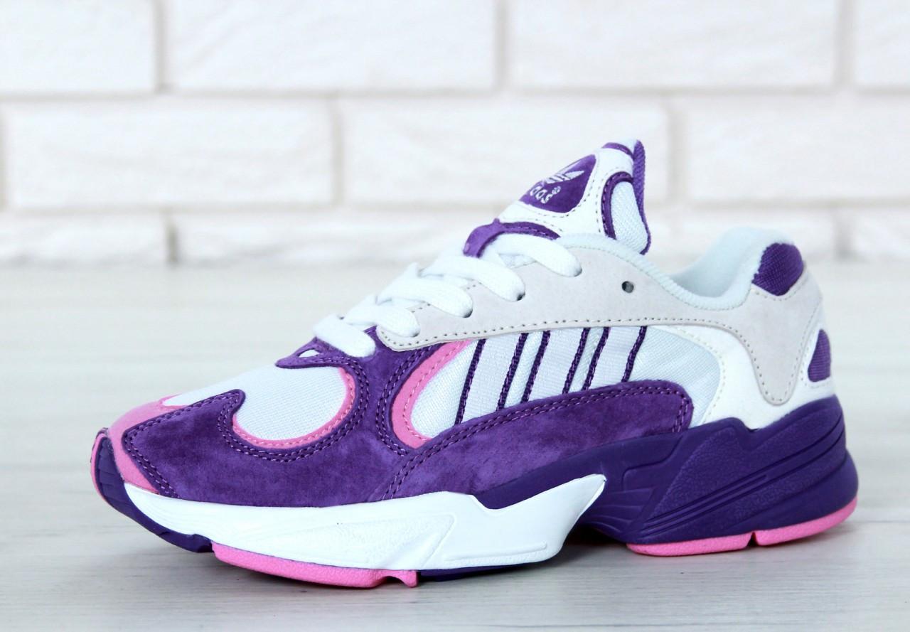 Женские кроссовки Adidas Yung-1 фиолетовые топ реплика