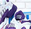 Женские кроссовки Adidas Yung-1 фиолетовые топ реплика, фото 5