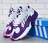 Женские кроссовки Adidas Yung-1 фиолетовые топ реплика, фото 6