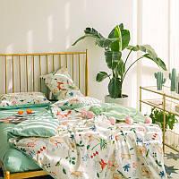Хлопковый комплект постельного белья лисицы в траве (двуспальный-евро)