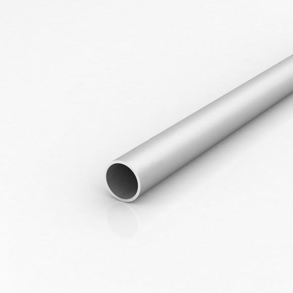 Алюмінієва труба кругла 32мм товщиною стінки 1мм анодована