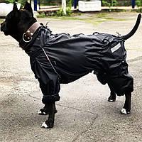 Одежда для Собак..Водонепроницаемый комбинезон + флис. Для собак крупных и средних пород. Hunter black
