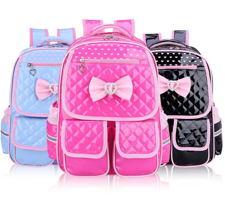 Шикарный лакированный школьный рюкзак для девочек