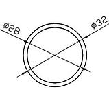 Алюмінієва труба кругла 32мм товщиною стінки 2мм анодована, фото 2