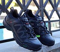 Мужские трекинговые кроссовки черные кожаные Karrimor Summit Leather