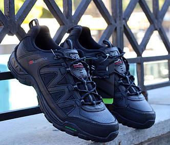 Оригинальные трекинговые кроссовки черные кожаные Karrimor Summit Leather 41 размер