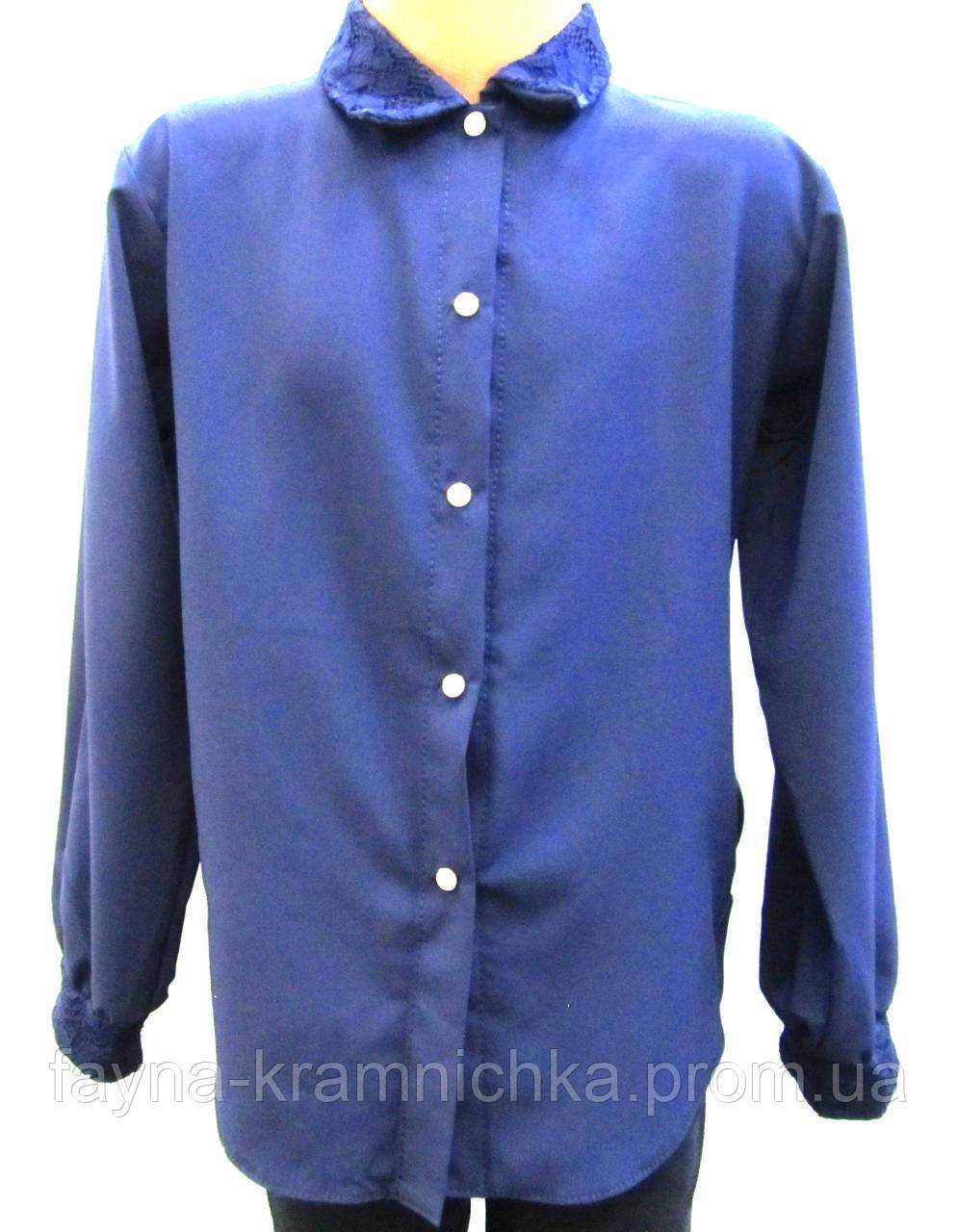 Блуза дівч на зудзиках дов/рукав рр.32-36