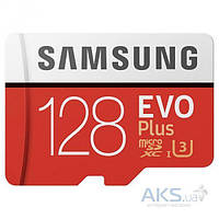 Карта памяти Samsung 128GB microSDXC Class 10 EVO Plus SD Adapter  UHS-I U3 (MB-MC128GA)